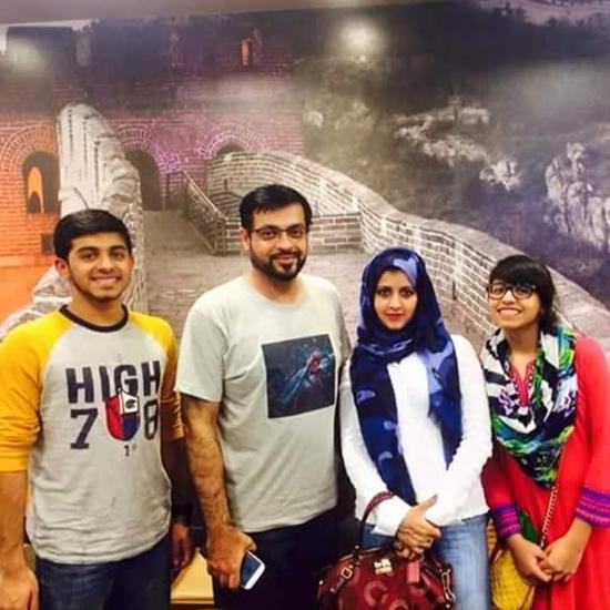 Dr. Aamir Liaqat's Family