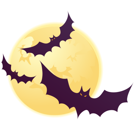 Halloween bats icon for Facebook