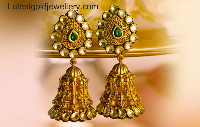 latest gold jhumka designs
