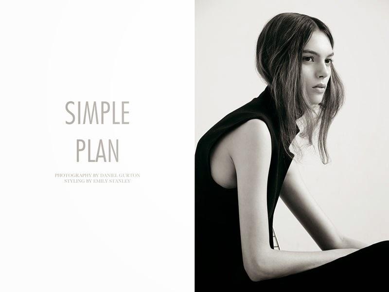 black editorial, minimalist editorial, daniel gurton, charlee fraser, emily stanley, fashion editorial