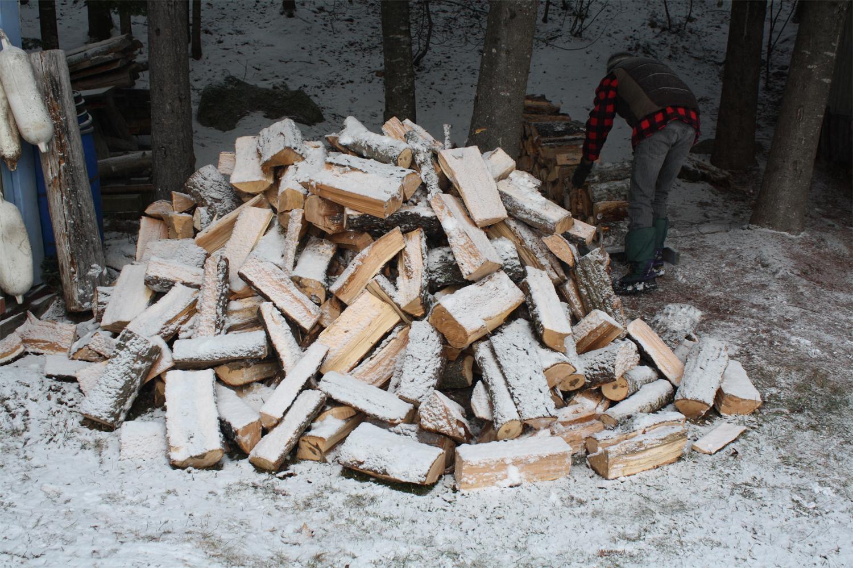 La famille au chalet La corde de bois et ses dimensions # Corde De Bois Dimension