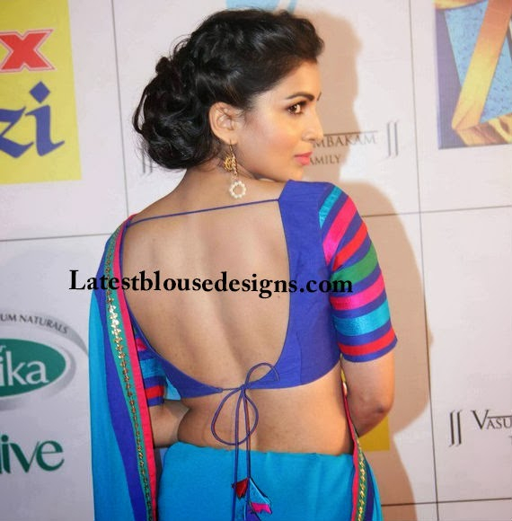 backless tie back saree blouse