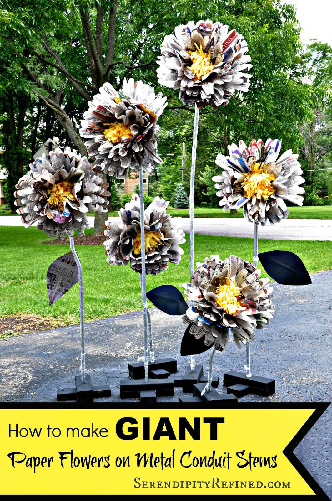 Serendipity Refined Blog Diy Giant Free Standing Paper Flowers On