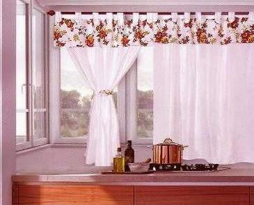 Dise os de cortinas para cocinas con lunares y flores for Disenos de cortinas de cocina