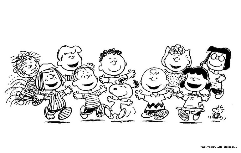 snoopy and friends coloring pages - luglio 2013