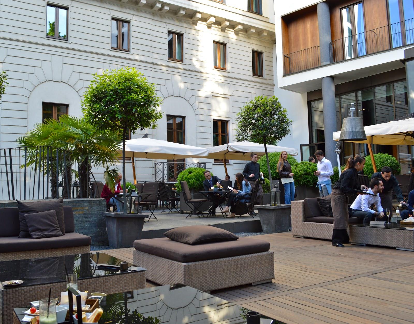 milan italy aperitivo at the bulgari hotel