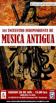 1er Encuentro Independiente de Música Antigua 2011