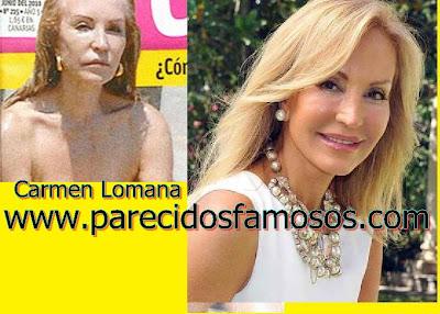 Carmen Lomana Estrellas sin maquillaje