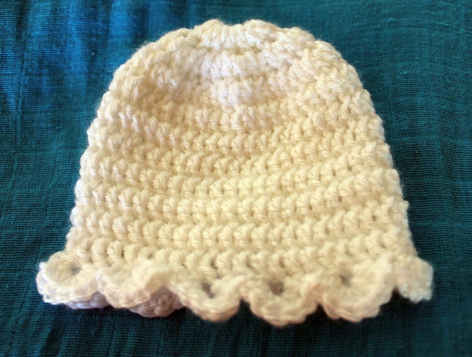 Crochet Beanie Pattern Newborn : Newborn Crochet Beanie Pattern beingfancifullycrafty