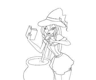 #8 Witch Coloring Page