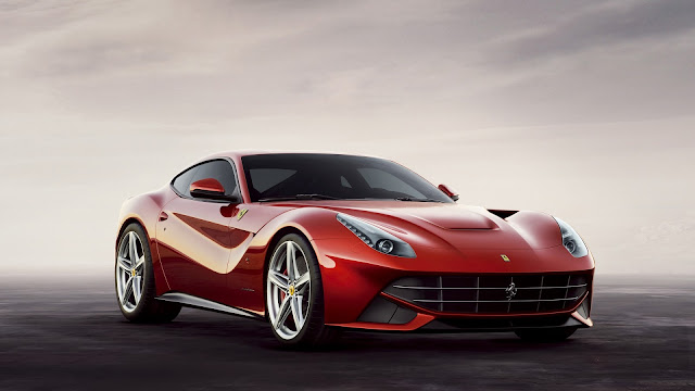 cloudy background ferrari berlinetta HD Wallpaper