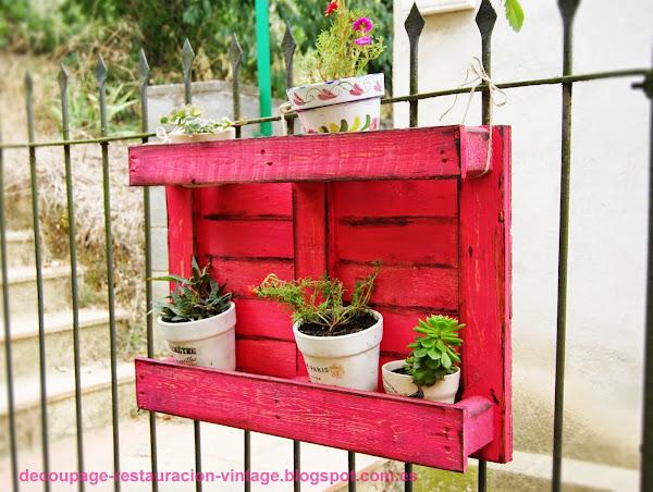 Palets Decoracion Jardin ~   macetas con reciclaje de palets  Hacer bricolaje es facilisimo com