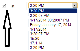 custom time settings