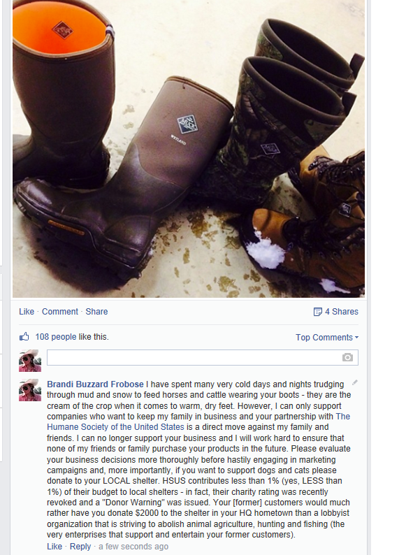 Farmers, ranchers, hunters and agriculture enthusiasts are disappointed with the Original Muck Boots decision.