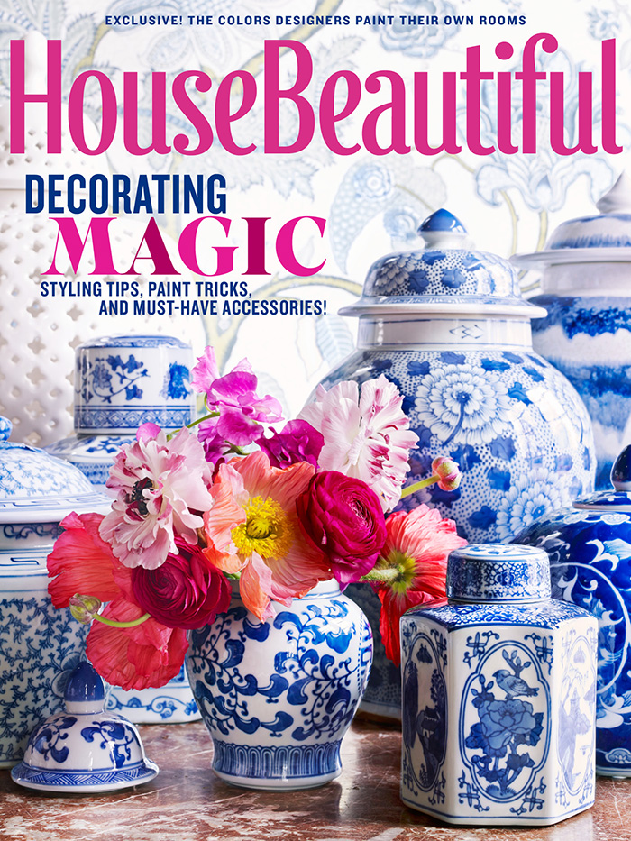 Blue and White + TPP in House Beautiful -- and Sale! | The Pink ...
