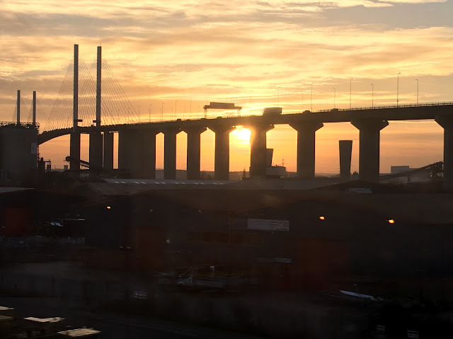 Dartford Crossing at Sunset