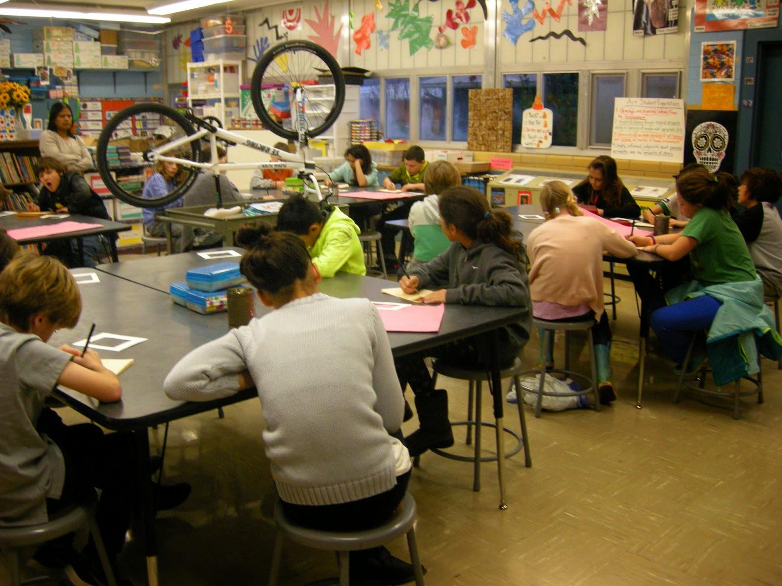 Line Art Elementary : Zilker elementary art class february