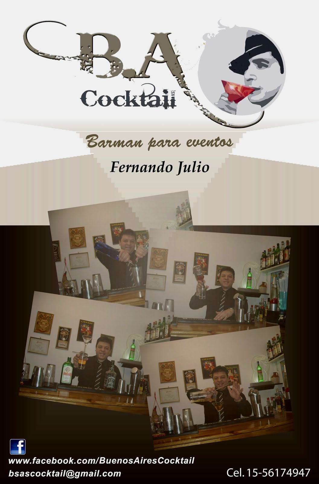 Buenos Aires Cocktail barras para eventos , capacitaciones ,barman a domicilio