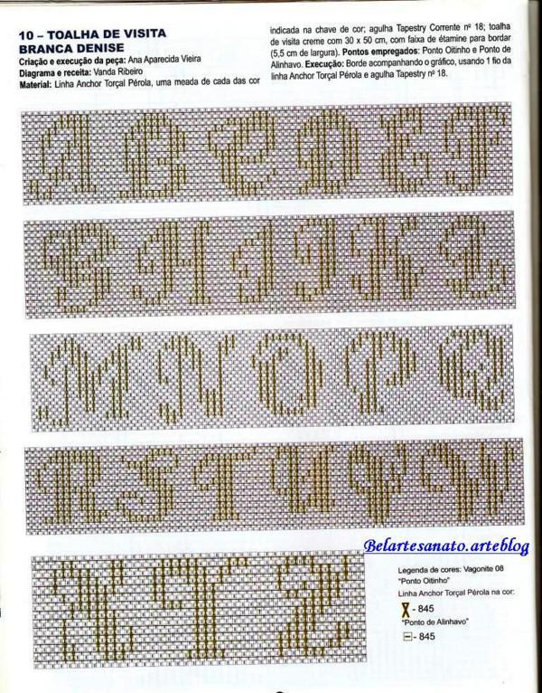Bordados Vagonite Letras Em Artesanato Culturami