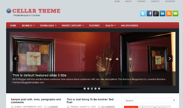Cellar Blogger Template