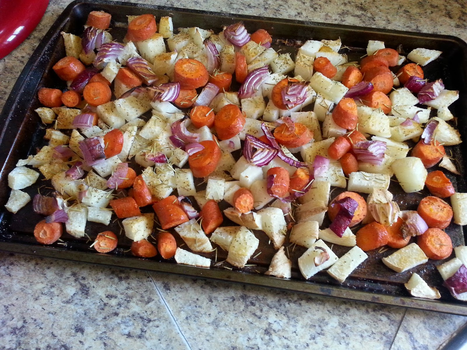 Baked Jicama and Carrots...