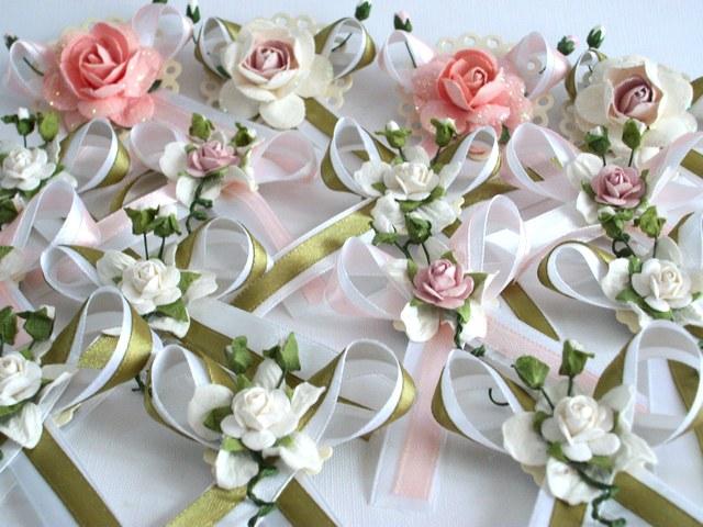 Цветочки на свадьбу для гостей своими руками 6