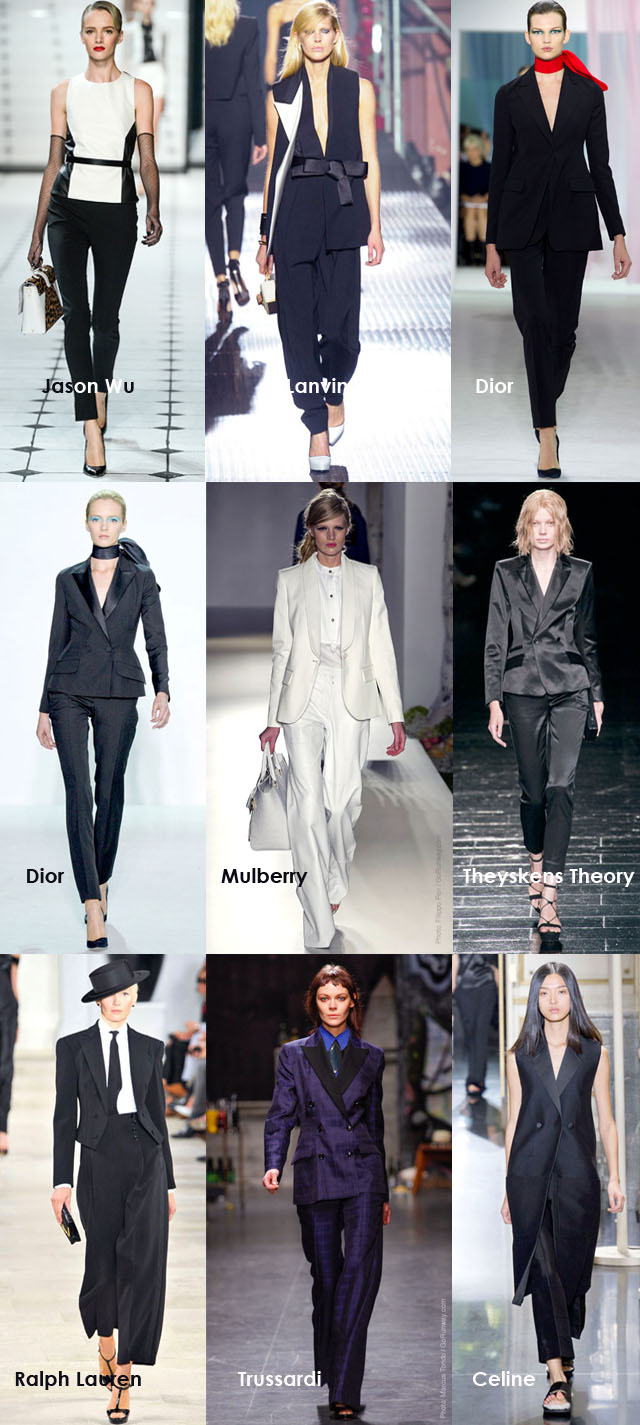 Spring Summer 2013 Trends, Women in Suits