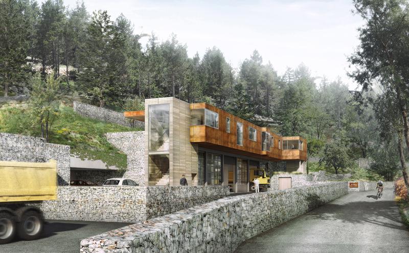 centre d 39 exploitation des routes coo architectes. Black Bedroom Furniture Sets. Home Design Ideas