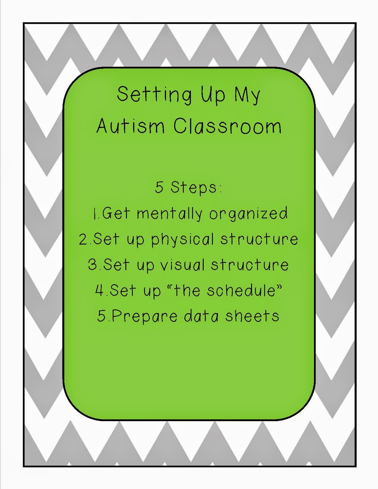 autism in classroom essay Given a classroom observation, the student will diagram the physical arrangement of the classroom: seating  arrangements, learning centers, blackboards, bulletin boards, closets,etc  the student will note the schedule of activities for the da on each observation is made.