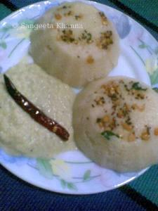 rawa idli with amla-coconut chutny | quick meals