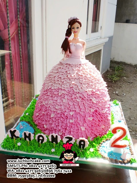 Kue Tart Barbie Pink Princess Barbie
