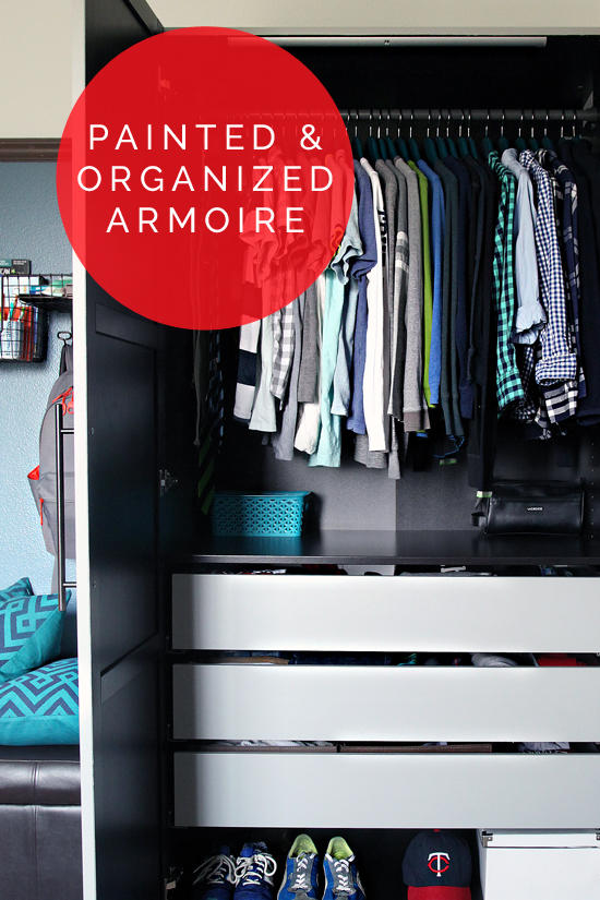 IHeart Organizing: A Painted & Organized IKEA Armoire