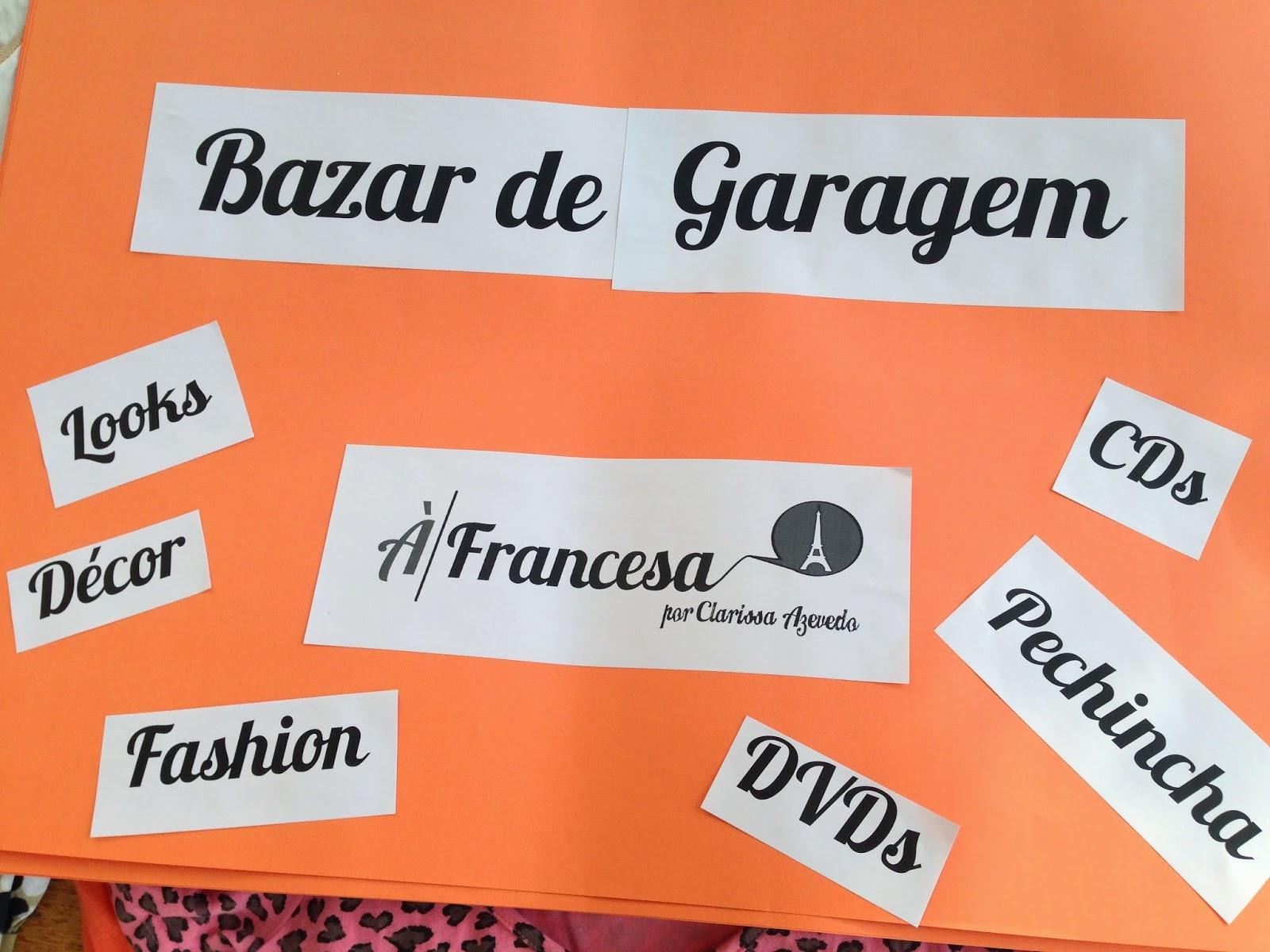 Primeiro Bazar de Garagem À Francesa