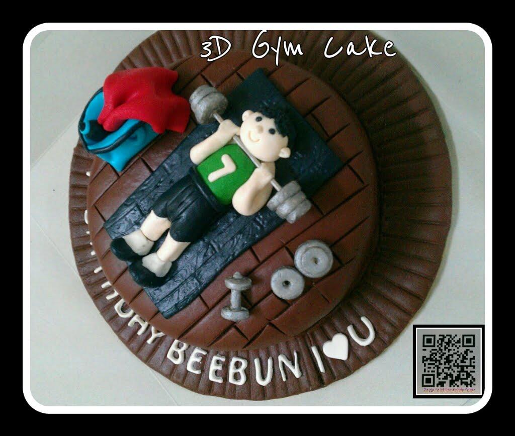 Cake Designs For Gym : Zairie Homemade Delights: 3D Gym cake