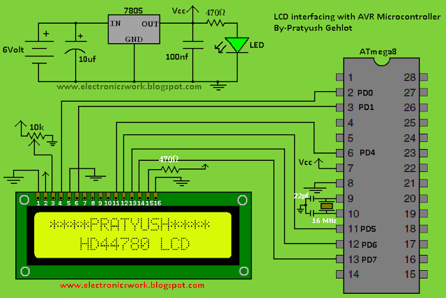 Pratyush U0026 39 S Blog   U00a7 Interfacing Hd44780 Lcd  U2013 Part3