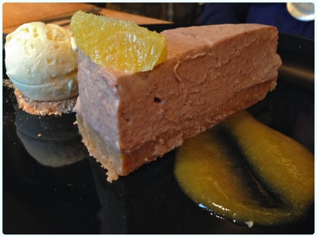 Yew Tree Inn, Anglezarke - Chocolate Orange Cheesecake