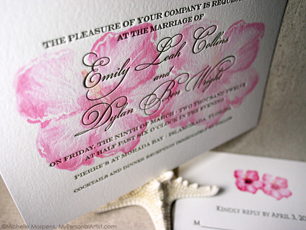Wedding Invite Letterpress Cards