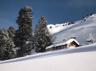 Snow covered hut - Gaisbergweg, Obergurgl