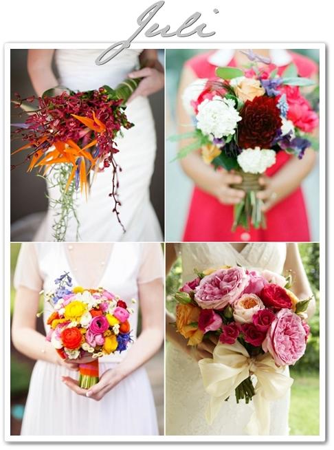 sommarbröllop, bröllop juli, bröllopsblommor juli, brudbukett med blandande färger, brudbukett med mixade färger