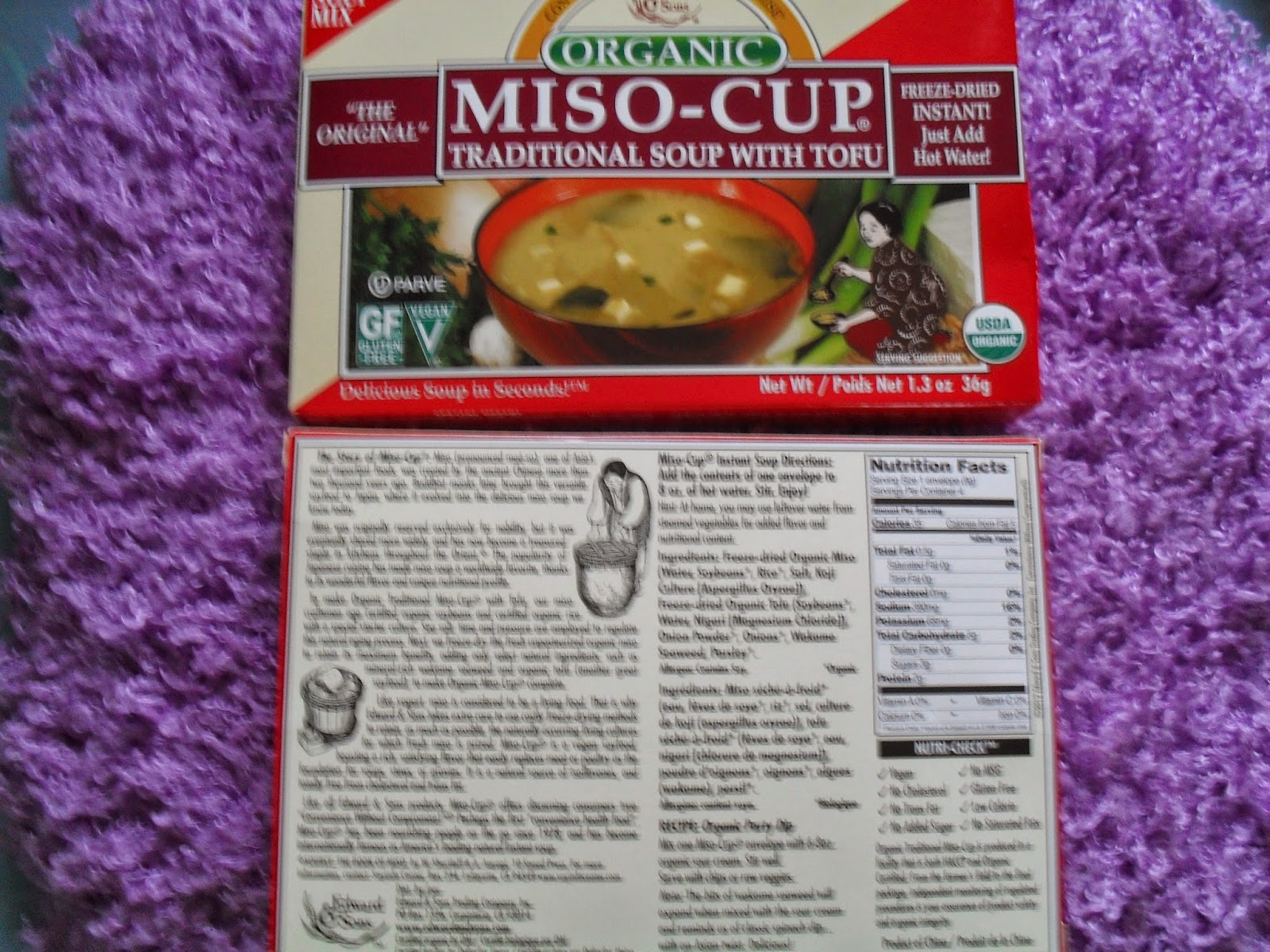 Edward & Sons, Organic Miso-Cup, Natural/Instant