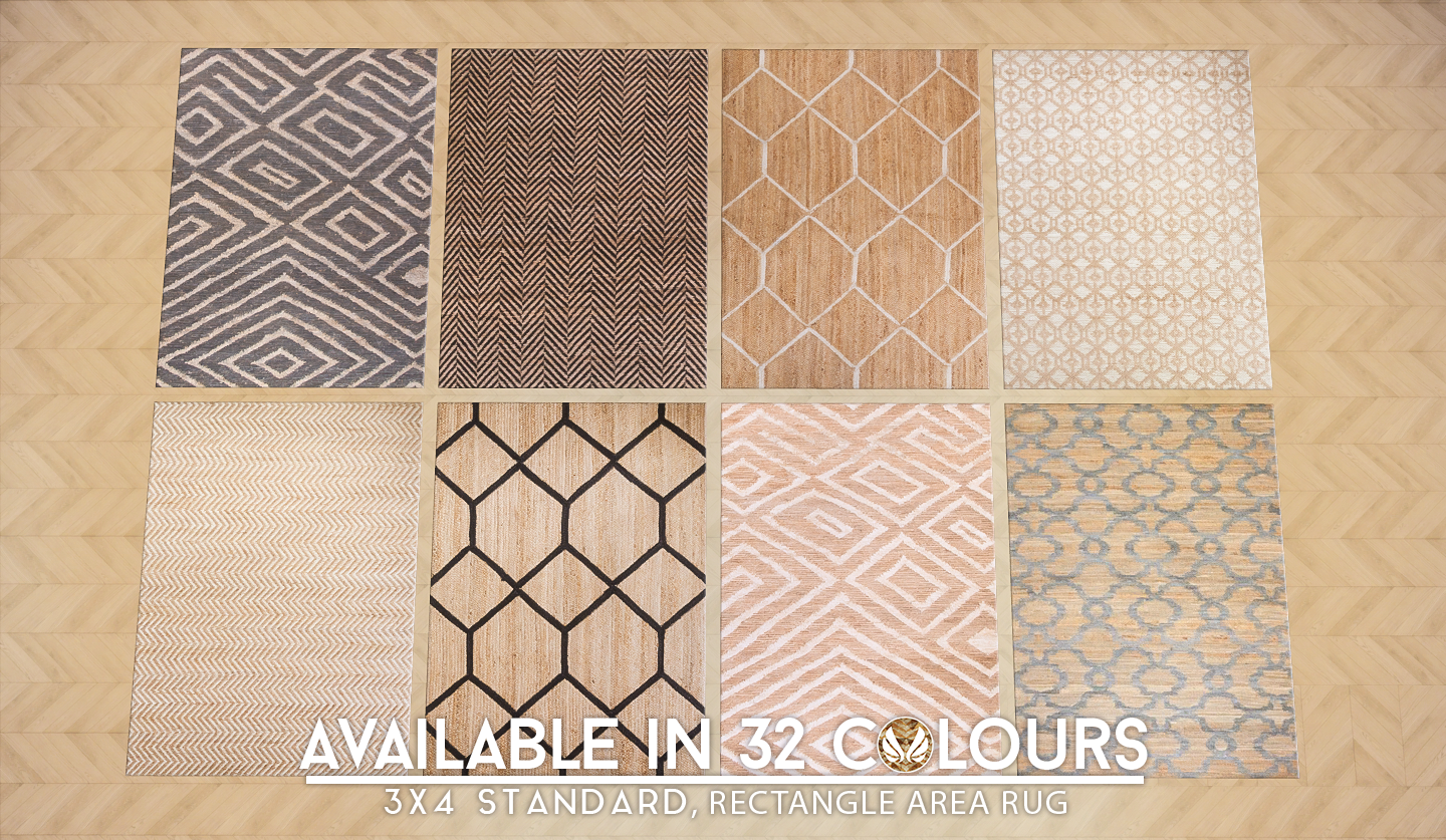 Simsational Designs Updated Patterned Jute Rugs