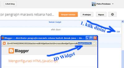 Gadget/Widget dan ID Widget pada Blog
