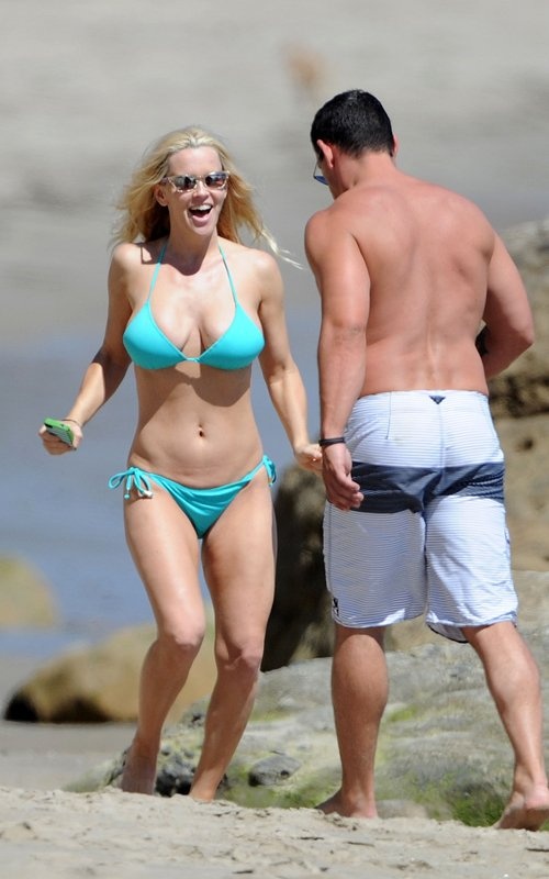 Jenny McCarthy - Bikini Candids in Malibu
