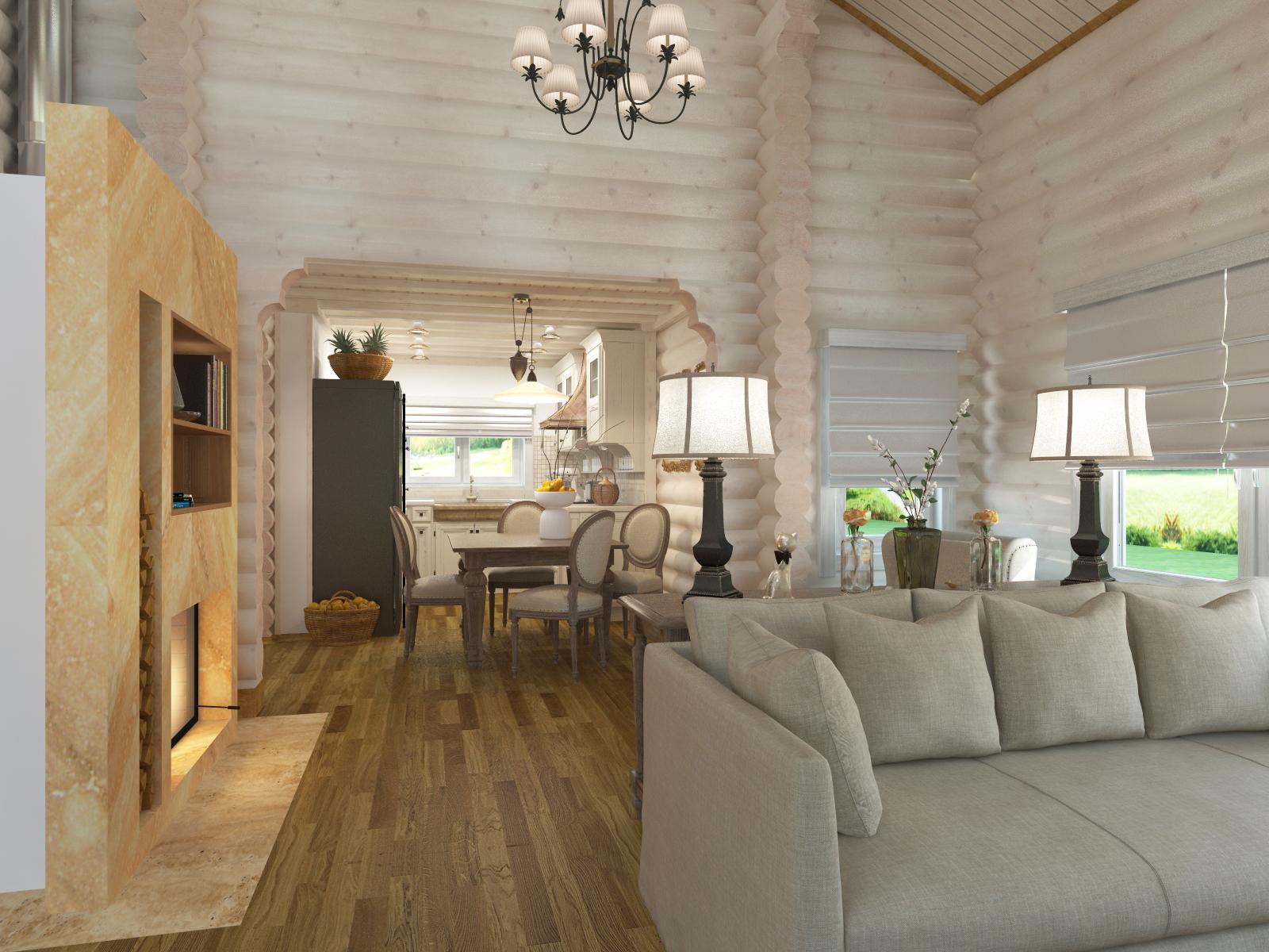 Дизайн дома блок хаусом 135
