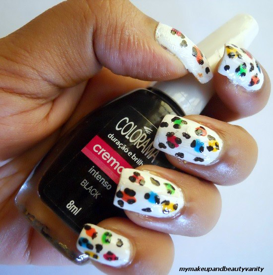 leopard nail art+nail art tutorial