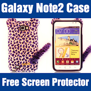 [Samsung Galaxy Note 2 II Leopard Case]Luxury Fur Tail Soft Jelly Cover Hagi