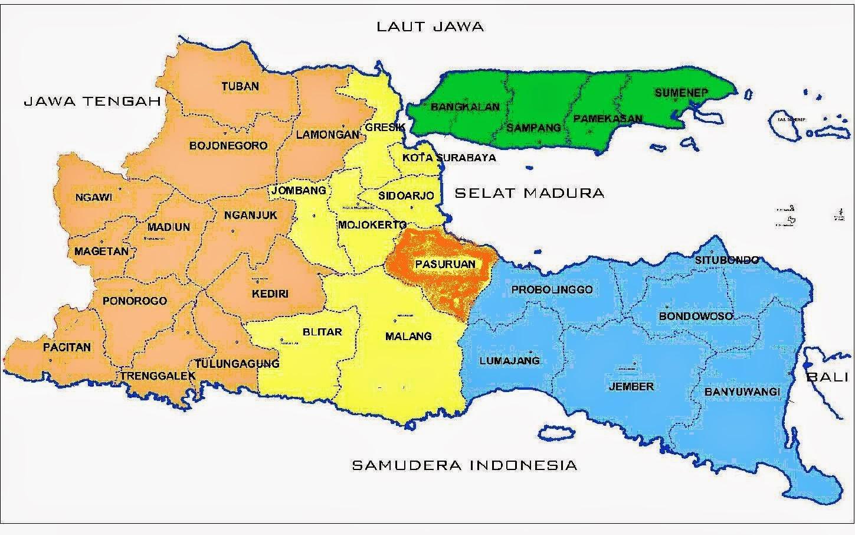 Mengenal Kabupaten Pasuruan Jawa Timur Indonesia Indomangga Gambar Peta