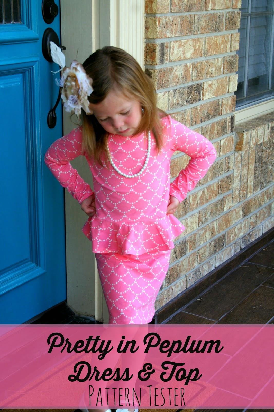 Huckleberry Love: Pretty in Peplum Dress {Pattern Tester}
