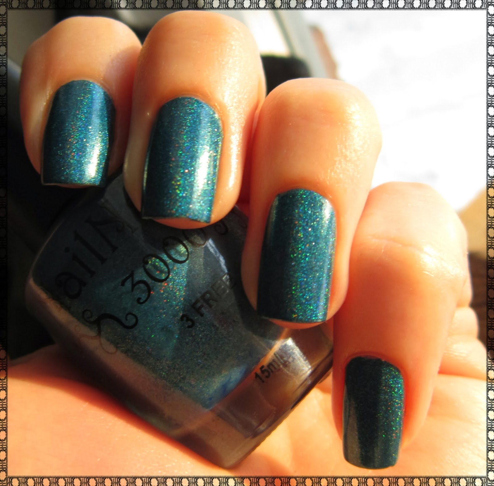 NailNation 3000 Can't Wait Teal Christmas