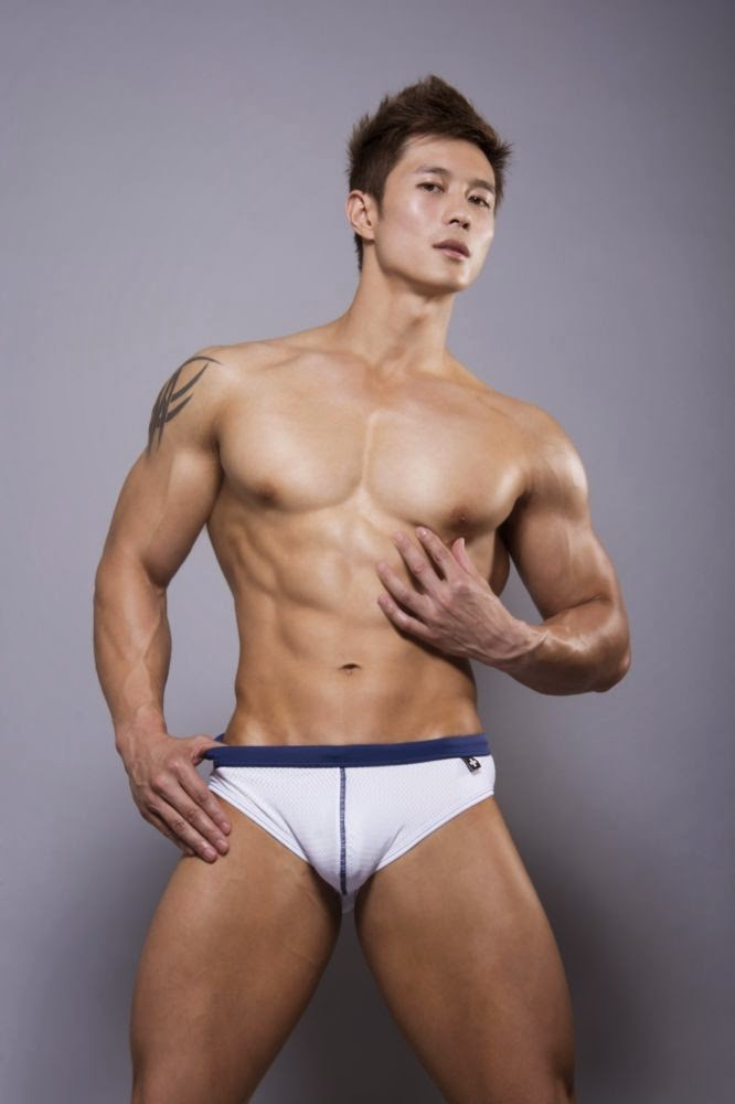 Nice Asian male model dimples